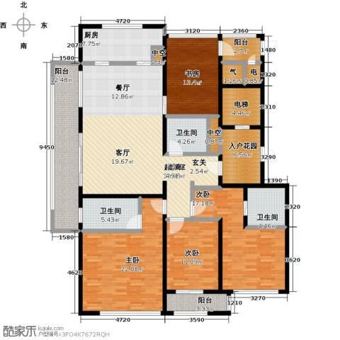 前程藏珑4室0厅3卫1厨184.00㎡户型图