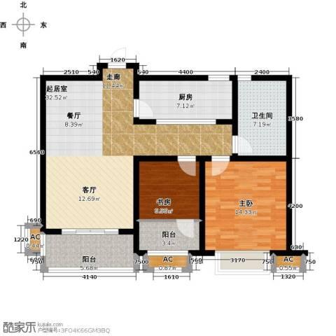 嘉盛维纳阳光2室0厅1卫1厨89.00㎡户型图