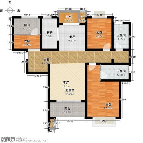嘉盛维纳阳光3室0厅2卫1厨120.00㎡户型图