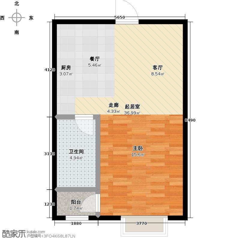 金海国际花园48.00㎡金海国际花园48.00㎡1室1厅1卫户型1室1厅1卫