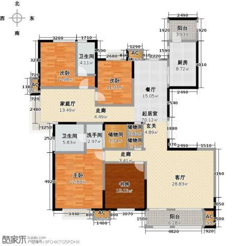 茂华国际汇4室0厅2卫1厨237.00㎡户型图