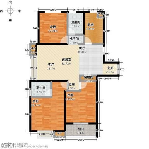 茂华国际汇3室0厅2卫1厨133.00㎡户型图