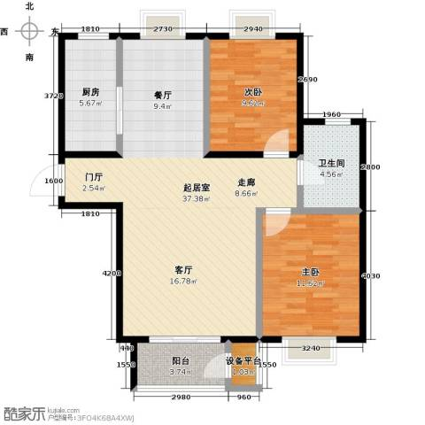 金海国际花园2室0厅1卫1厨83.00㎡户型图