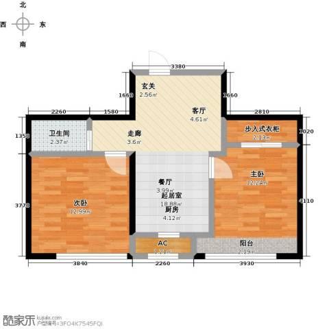 大树花园2室0厅1卫0厨57.00㎡户型图