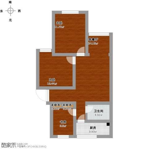 品新苑3室1厅1卫1厨91.00㎡户型图
