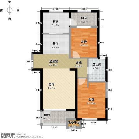华润海中国2室0厅1卫1厨100.00㎡户型图