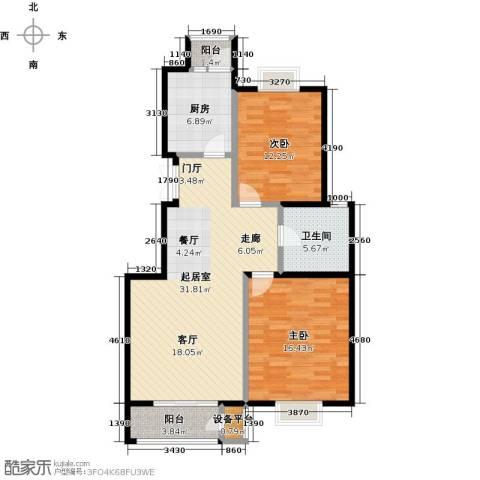 金海国际花园2室0厅1卫1厨89.00㎡户型图