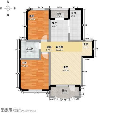 半岛印象2室0厅1卫1厨109.00㎡户型图