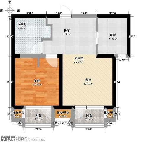 华润海中国1室0厅1卫1厨65.00㎡户型图