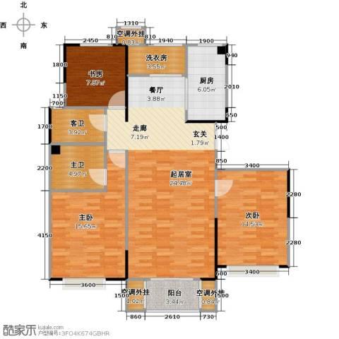 卫津领寓3室1厅0卫1厨128.00㎡户型图