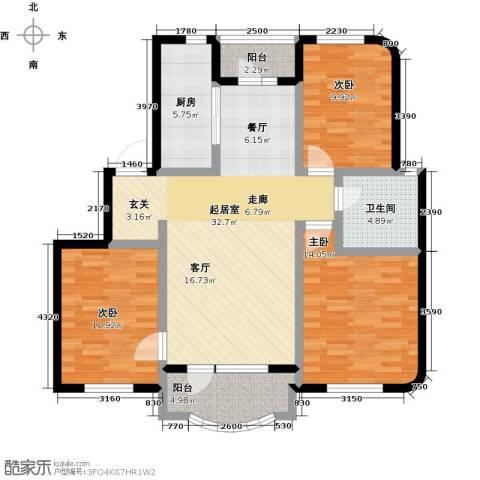 半岛印象3室0厅1卫1厨125.00㎡户型图