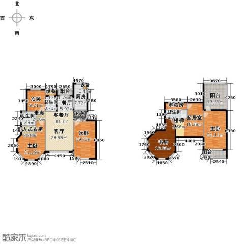 滨海假日5室1厅3卫1厨190.76㎡户型图