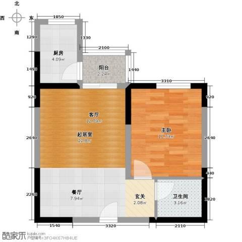 百欣花园1室0厅1卫1厨60.00㎡户型图