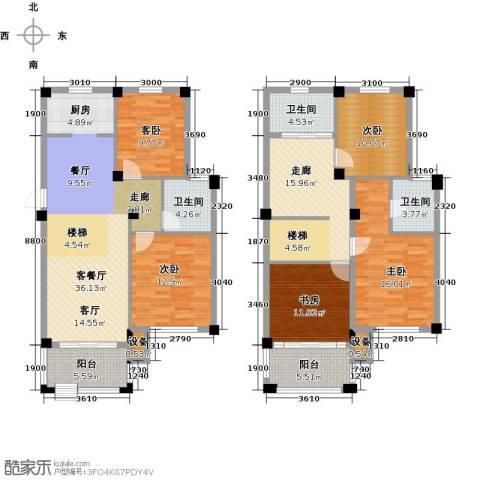 远洲国际城5室1厅3卫0厨160.00㎡户型图