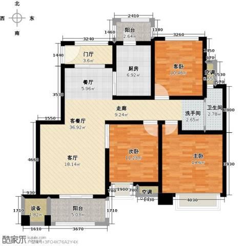 中锐星尚城3室1厅1卫1厨103.00㎡户型图