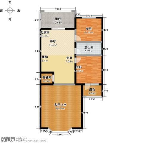 龙湖庄园2室0厅1卫0厨114.61㎡户型图