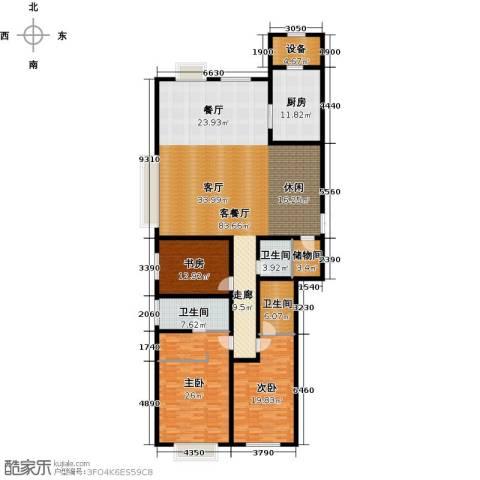 天津大都会3室1厅3卫1厨268.00㎡户型图