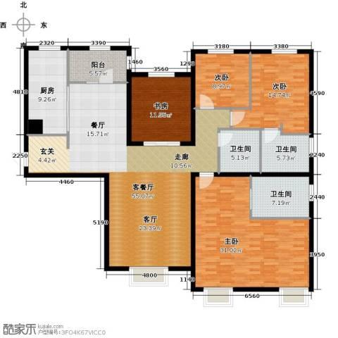 天津大都会4室1厅3卫1厨210.00㎡户型图