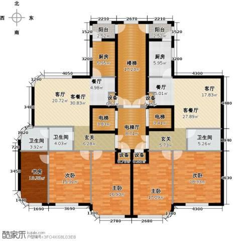 滨海假日5室2厅3卫2厨203.17㎡户型图
