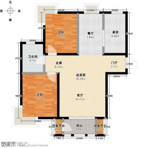 金海国际花园2室0厅1卫1厨84.00㎡户型图