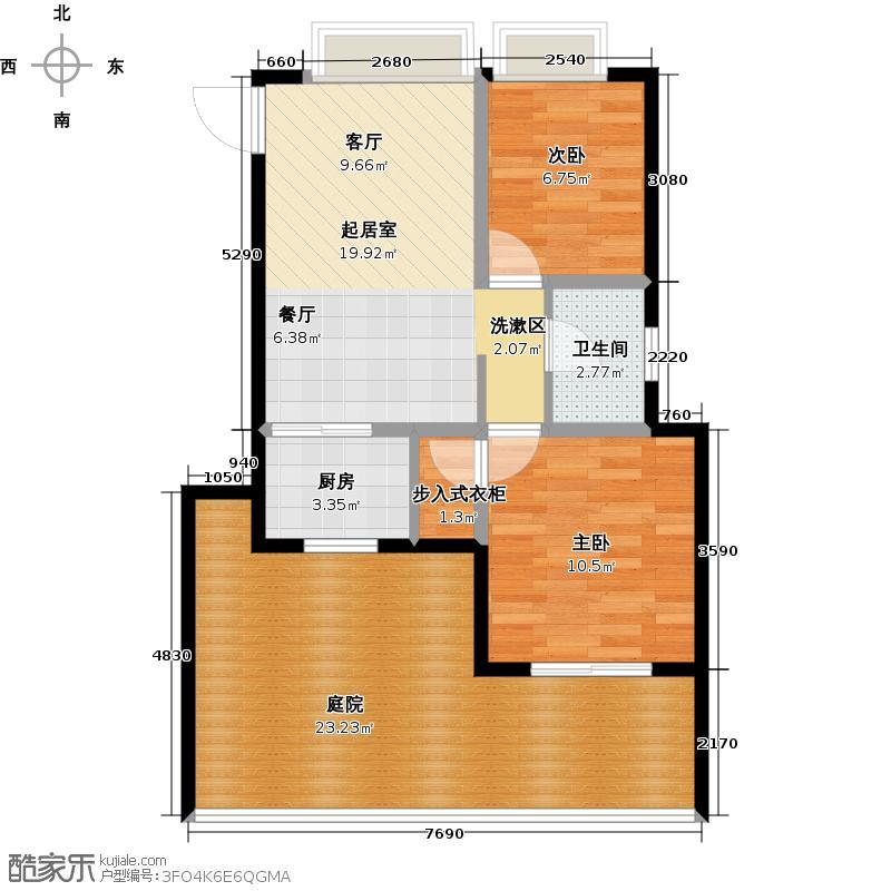 和达和城77.00㎡多层20号、21号楼1F户型2室2厅1卫