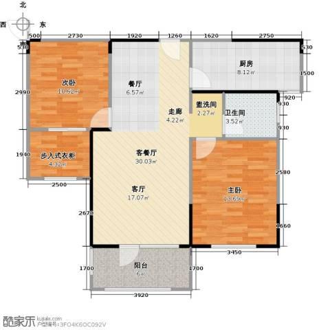 朗诗绿色街区2室1厅1卫1厨82.00㎡户型图