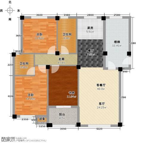 远洲国际城3室1厅2卫0厨112.00㎡户型图