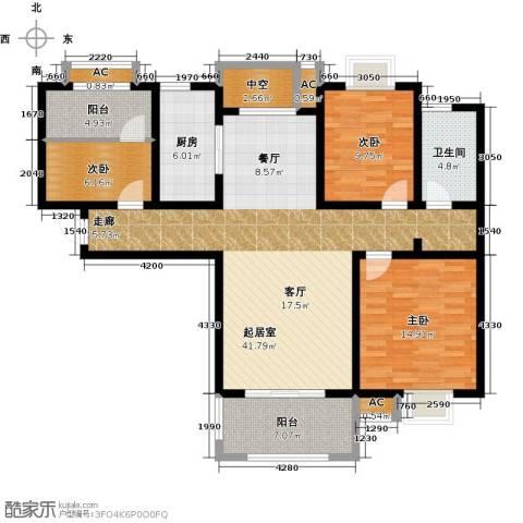 嘉盛维纳阳光3室0厅1卫1厨110.00㎡户型图