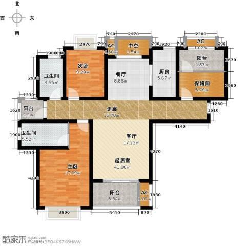 嘉盛维纳阳光2室0厅2卫1厨120.00㎡户型图