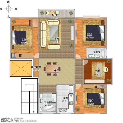钱江四苑4室1厅2卫1厨271.00㎡户型图