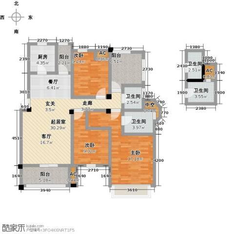 南山金城19583室0厅4卫1厨121.00㎡户型图