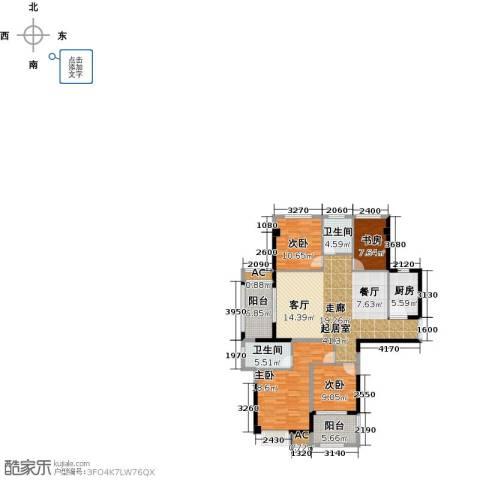 诚盛御庭4室0厅2卫1厨130.00㎡户型图