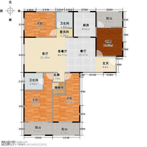 朗诗绿色街区4室1厅2卫1厨141.00㎡户型图