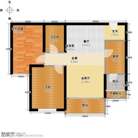 君熙太和1室0厅1卫1厨88.00㎡户型图
