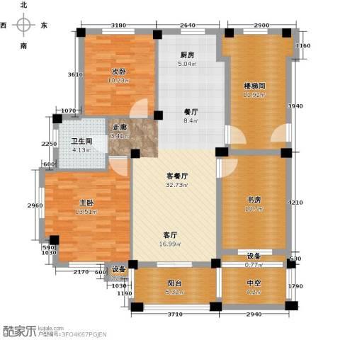 远洲国际城3室1厅1卫0厨96.00㎡户型图