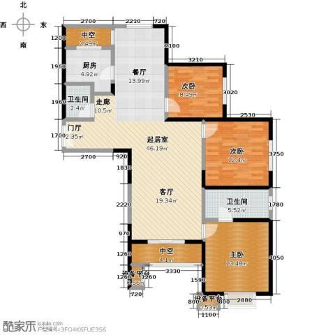 东城新一家3室0厅2卫1厨144.00㎡户型图
