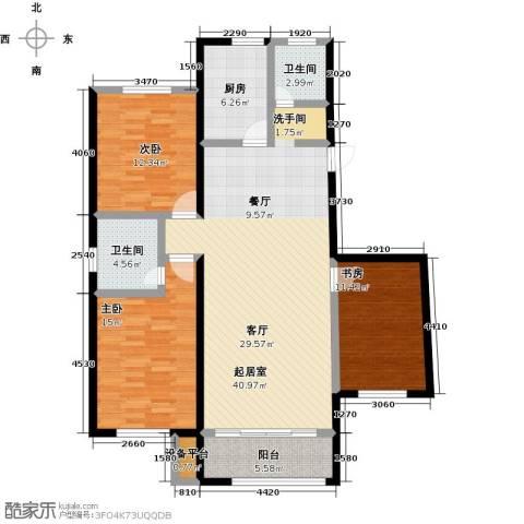 中红一品3室0厅2卫1厨123.00㎡户型图