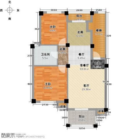 远洲国际城2室1厅1卫0厨87.00㎡户型图