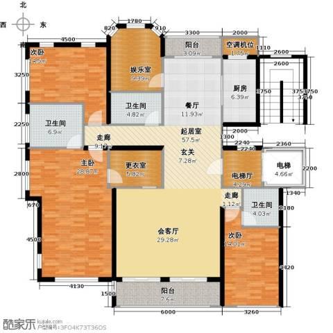 君熙太和3室0厅3卫1厨206.00㎡户型图