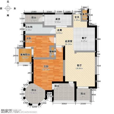 晶城秀府2室0厅1卫1厨138.00㎡户型图