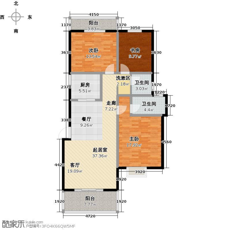 和达和城J洋房三房116㎡户型