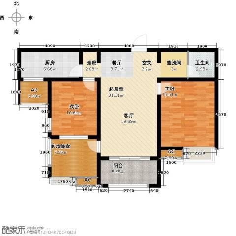 安阳万达广场2室0厅1卫1厨122.00㎡户型图