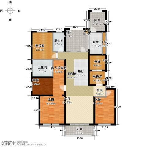 万科信成道2室0厅2卫1厨172.00㎡户型图