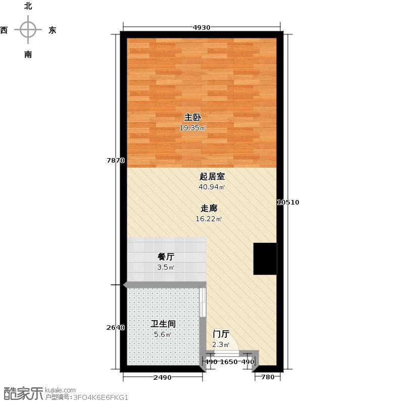 长安公馆51.24㎡公寓户型