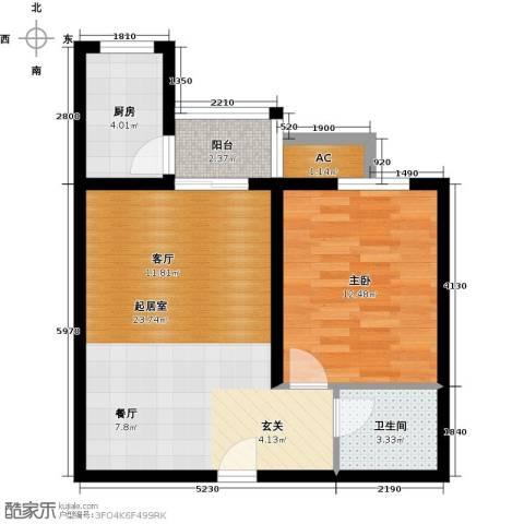 百欣花园1室0厅1卫1厨61.00㎡户型图