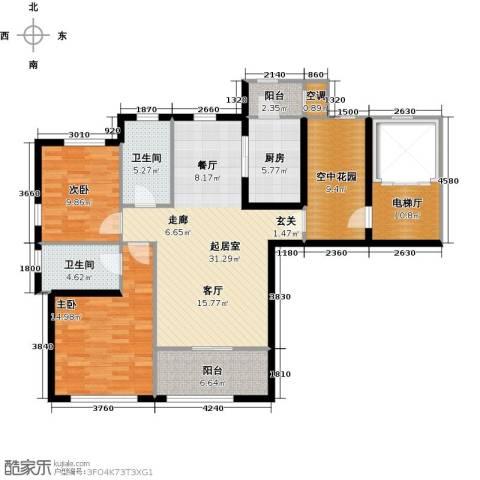 君熙太和2室0厅2卫1厨116.00㎡户型图