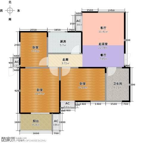 紫云溪1卫1厨92.00㎡户型图