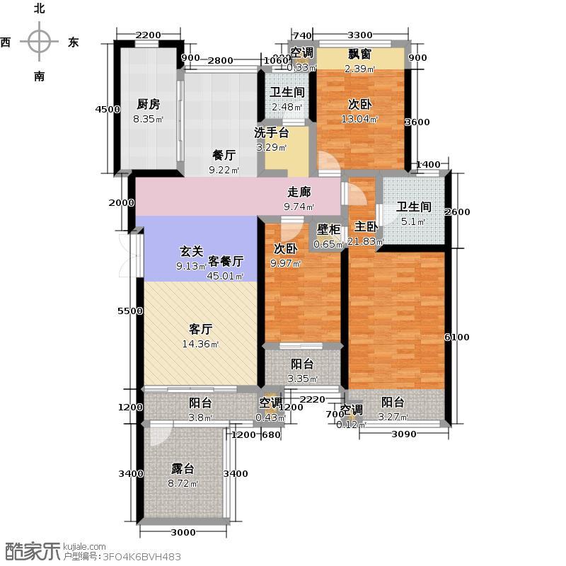 豪门府邸148.90㎡豪门府邸户型图3室2厅2卫1厨148.90㎡(4/44张)户型3室2厅2卫