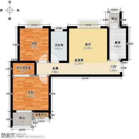 东城新一家2室0厅1卫1厨80.00㎡户型图