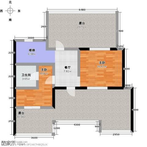 恒景・溪山壹�2室0厅1卫0厨127.00㎡户型图